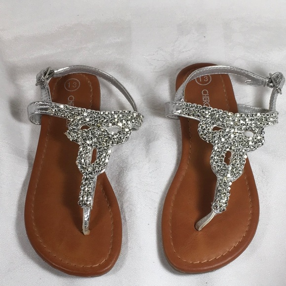 e17eee4ed1af Cherokee Other - Cherokee toddler girl silver sandals size 13 strap